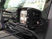 Clicca per ingrandire Staffa di montaggio Fari   LED   Jeep Wrangler JK