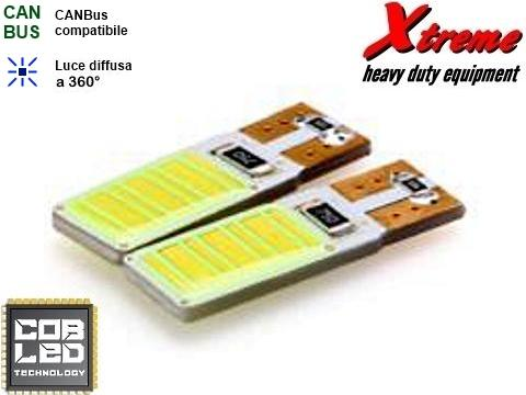 Lampada LED COB   T10   12 Chips