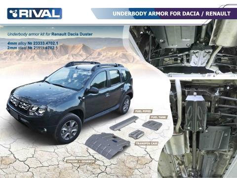 Dacia Duster 4WD   A4 Piastra Tubi carburante