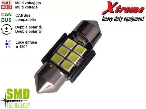 Lampada LED SMD   Siluro 12x31 mm