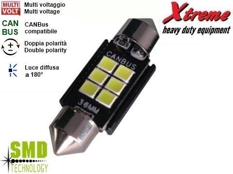 Lampada siluro   SMD 12x36 mm