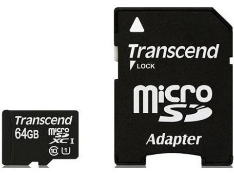 Transcend MicroSD    64 Gb  Classe 10
