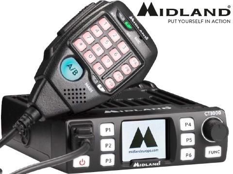 Radio ricetrasmittente   UHF VHF   Midland CT3000