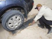 Piastre arrotolabili in gomma   per uso su Sabbia Neve