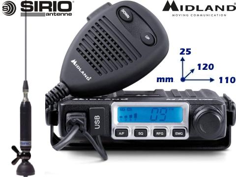 Kit Radio CB Midland   M Mini   Antenna Sirio