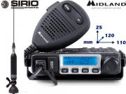 Clicca per ingrandire Kit Radio CB Midland   M Mini   Antenna Sirio