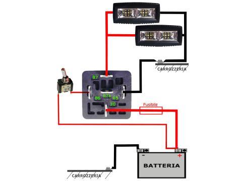 Schema di montaggio   rel  per uso automotive