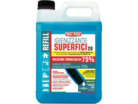 Igienizzante superfici 2 0   Idroalcolico al 75    5 0 l