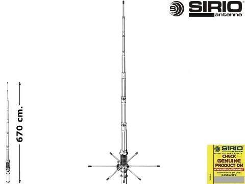 Antenna CB fissa   Sirio 827