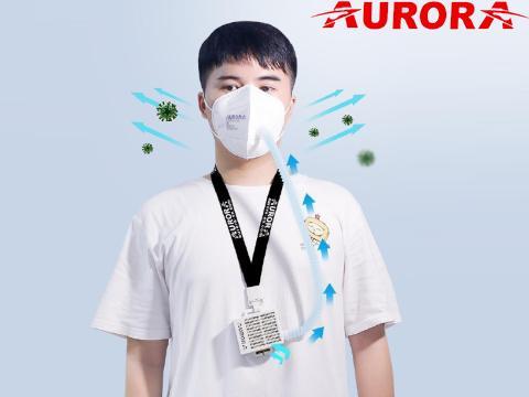 Mascherina con   purificatore aria 99