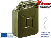 Clicca per ingrandire Tanica carburante in acciaio   da 20 Lt  Militare