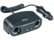Clicca per ingrandire Multipresa  doppia     tester batteria    1 USB