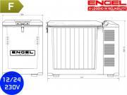 Frigorifero a compressore    Engel MT45F V