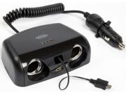 Clicca per ingrandire Multipresa  doppia     tester batteria   2 USB
