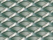 Clicca per ingrandire Lamiera in acciaio grezzo   stirata a griglia 250x500