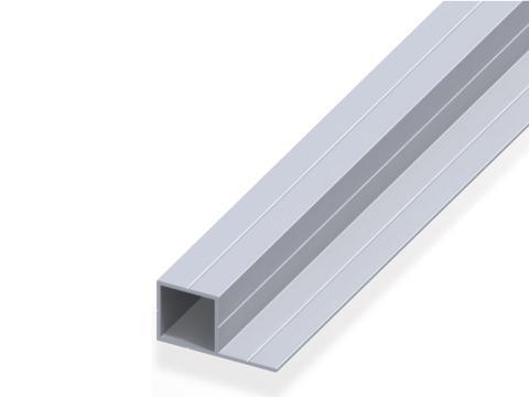 Profilato quadrato   con 1 lato   250 cm