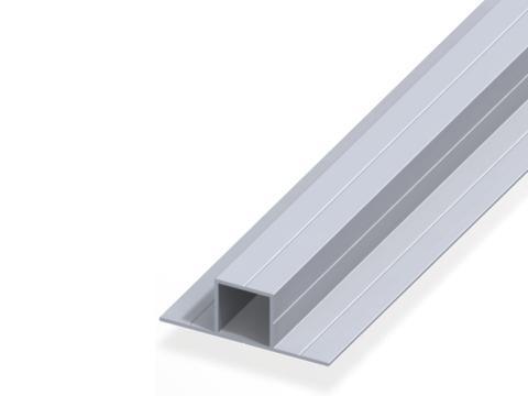 Profilato quadrato   con 2 lati a 180    100 cm