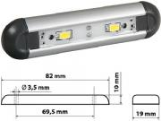 Clicca per ingrandire Lampada a plafoniera   LED   Alumina 2