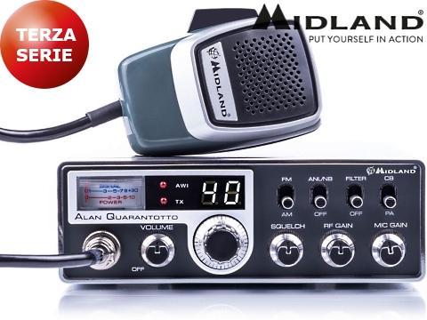 Schemi Elettrici Radio Cb : Radio cb ricetrasmittente midland alan quarantotto
