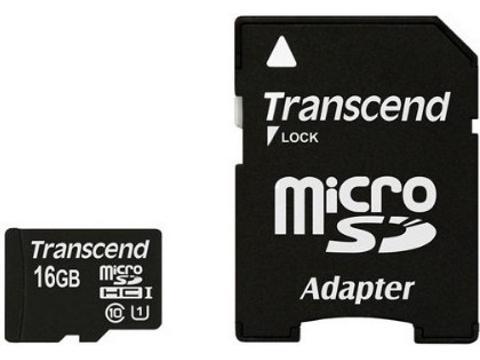 Transcend MicroSD    16 Gb  Classe 10