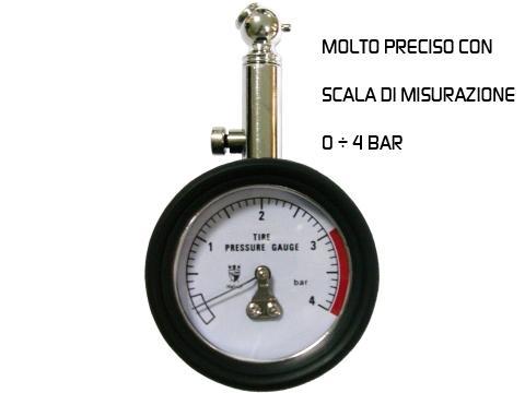 Manometro analogico   di precisione 0 4 bar