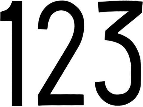 Numeri adesivi   targa ripetritrice