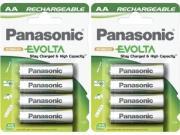 8 Batterie AA ricaricabili   Panasonic EVOLTA 2050 mAh